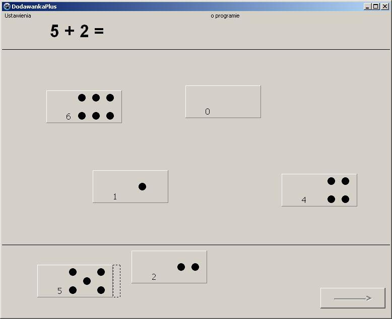 nauka dodawania - podstawowego działania arytmetycznego - program komputerowy